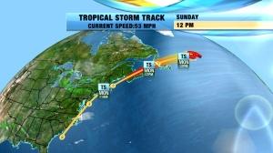 Viz Weather Hurricane track