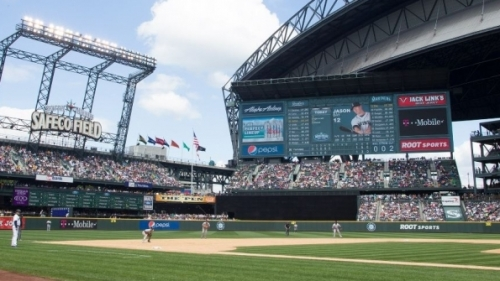The new Seattle Mariners' Panasonic Lighthouse HD LED video display features imagery captured by new HD equipment, including two FUJINON XA77x9.5 HD telephoto field lenses, one HA14x4.5 super wide-angle HD ENG/EFP lens and a FUJINON ZA22x7.6BERD ENG/EFP HD lens.